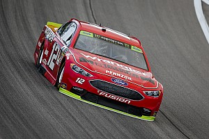 Ryan Blaney leads opening Kansas practice, Larson wrecks