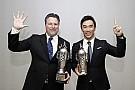 """Sato, y Andretti reciben sus  """"Baby Borgs"""" por ganar Indy 500"""