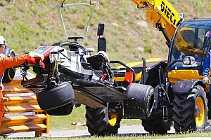 Формула 1 Самое интересное Большая авария на старте гонки в Барселоне: видео