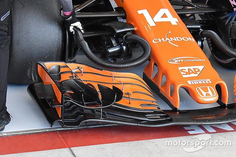 Új első szárny került Alonso McLarenjére
