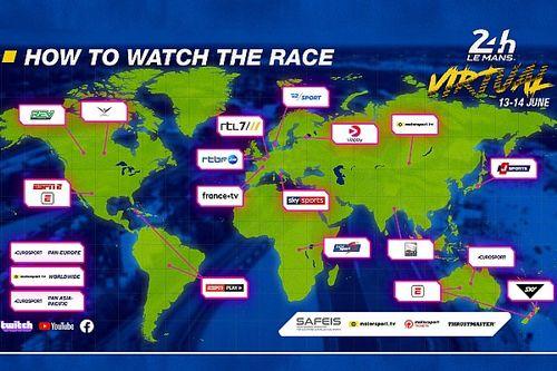ESPN, entre las emisoras de las 24 Horas de Le Mans Virtual