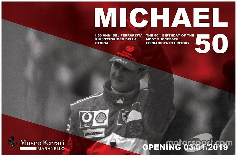"""Ferrari-Museum: Die Ausstellung """"Schumacher"""" wird am 3. Januar mit """"Michael 50"""" eröffnet"""