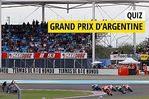 MotoGP Preview Quiz - Testez vos connaissances sur le GP d'Argentine!