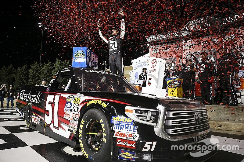 Blown engine robs Rhodes of first win, handing victory to Busch