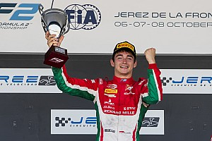 FIA F2 Reporte de la carrera Leclerc se consagró campeón tras un ajustado triunfo en Jerez