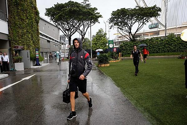 Grosjean incerto che il GP di Singapore si possa fare sul bagnato
