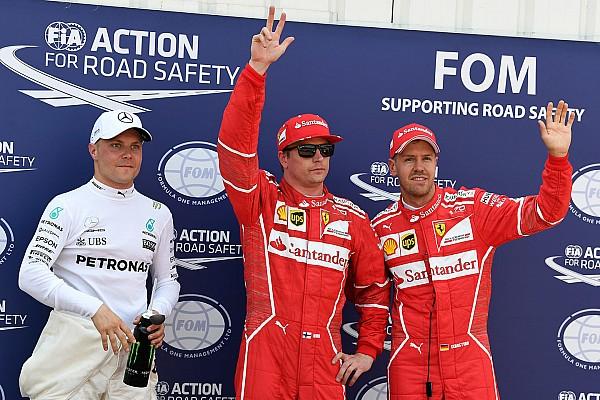 Formule 1 Kwalificatieverslag Raikkonen voor het eerst sinds Frankrijk 2008 weer op pole, Verstappen P4