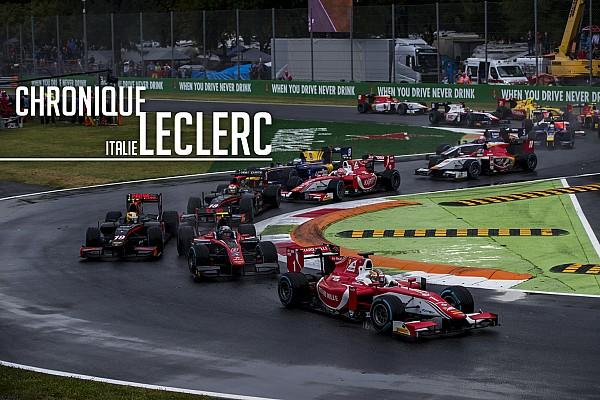 FIA F2 Chronique Leclerc - Privé d'une victoire à Monza par un accident
