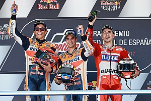 MotoGP Репортаж з гонки Гран Прі Іспанії: Педроса виграв гонку з дублем Honda