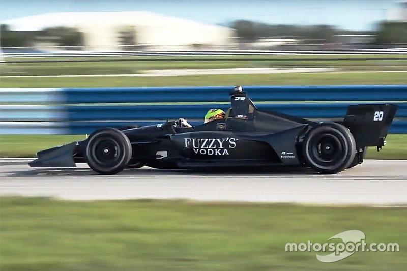 Тесты новых машин IndyCar на «Себринге»: видео