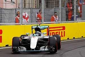 Formula 1 Qualifying report Mixed results for the Silver Arrows in frantic Baku qualifying session