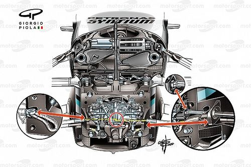 Mercedes W11: ecco com'è il sistema Ackermann variabile