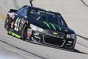 NASCAR Cup Qualifying report Kurt Busch inherits Atlanta pole as brother Kyle has time disallowed