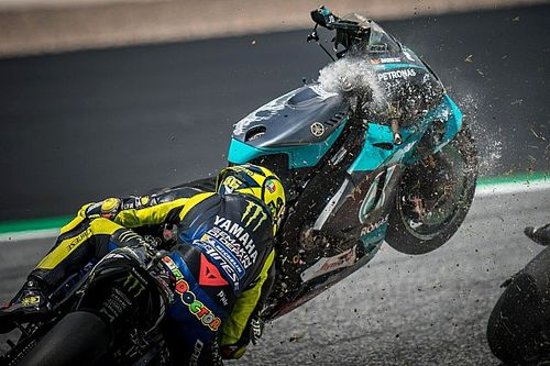 "Rossi: ""Terrifying"" crash shows MotoGP riders too aggressive"