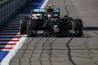 Sesión accidentada de libres 1 en el GP de Rusia de la F1 2020