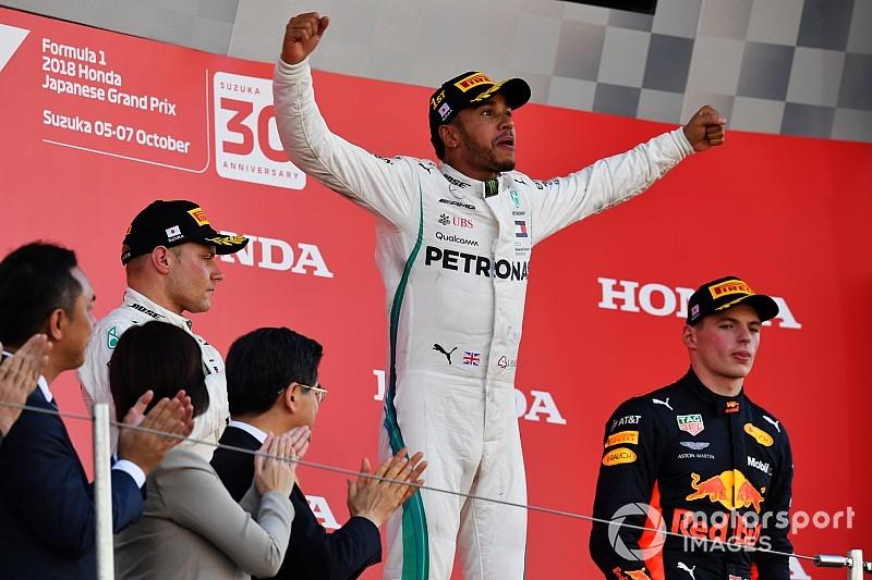 WK-stand: Hamilton mept Vettel K.O. in Japan
