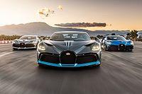 Tre Bugatti Divo sbarcano in California, e corrono in pista
