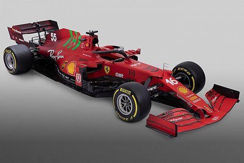 Ferrari reveals SF21 car with green Mission Winnow branding