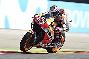 MotoGP Reporte de pruebas El warm up fue de Márquez en Aragón