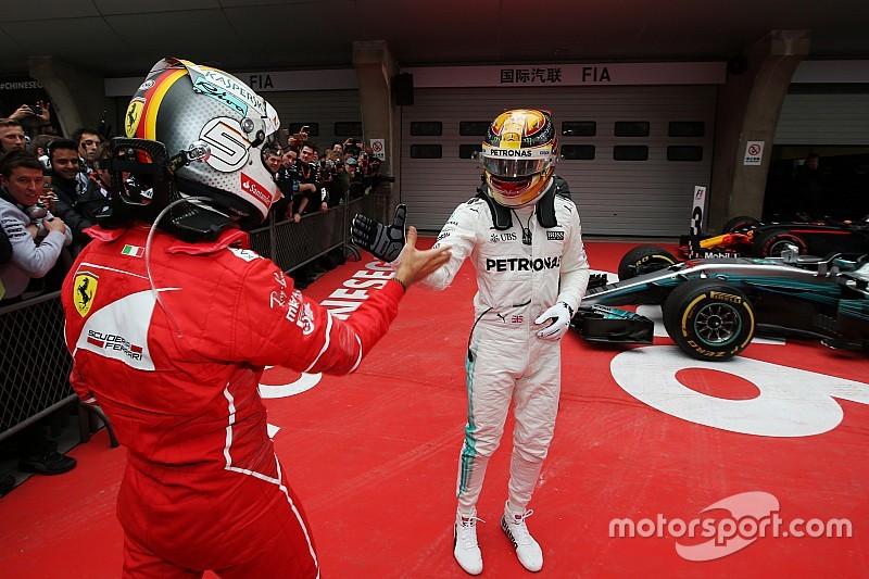 "Hamilton: ""Le dije a Vettel que iba a ir a por él en China"""