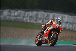 MotoGP Practice report Brno MotoGP: Marquez tops wet warm-up by a second