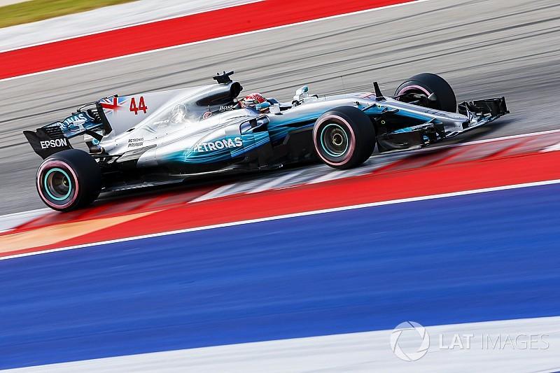 """Hamilton dice que su auto necesitó """"grandes cambios"""" en Austin"""