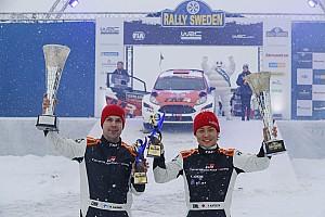 勝田貴元、ラリー・スウェーデンでWRC2クラス初優勝!