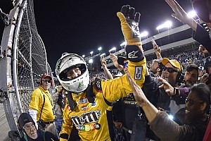 NASCAR Cup Race report Kyle Busch makes it three in a row with win at Richmond