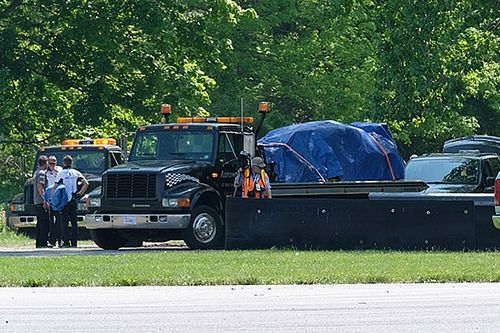 Drivers hurt in huge Bentley and Aston Martin sportscar crash