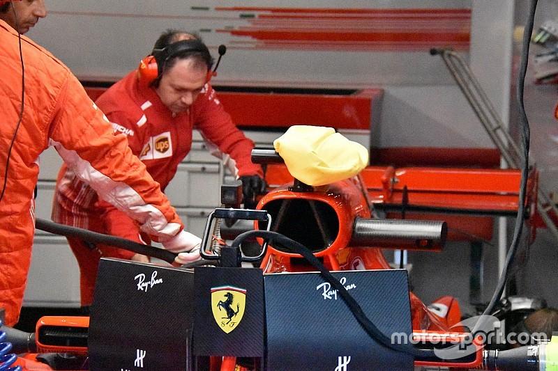 Ferrari: vietato da Monza coprire la camera car con il panno. Ora si usa l'ombrello!