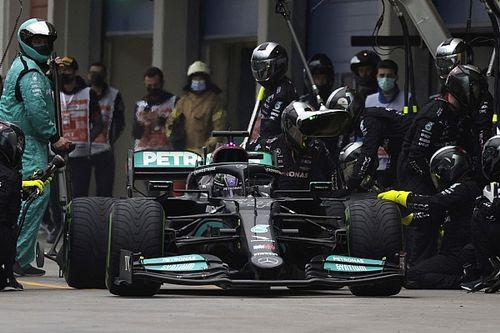 """メルセデス、""""タイヤ無交換作戦""""ではハミルトンは「ポイント獲得ギリギリまで」順位を下げていた可能性大"""