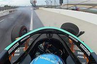 VÍDEO: Alonso 'estampa' muro de Indianápolis em treino para Indy 500