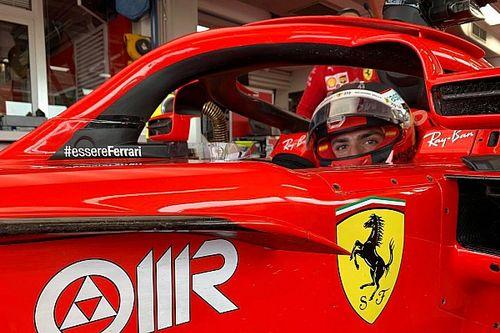 Sainz tuvo un intenso día de pruebas con la Ferrari de 2017