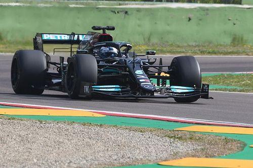 Bottas torna in pista a Imola dopo il crash con le Pirelli da 18