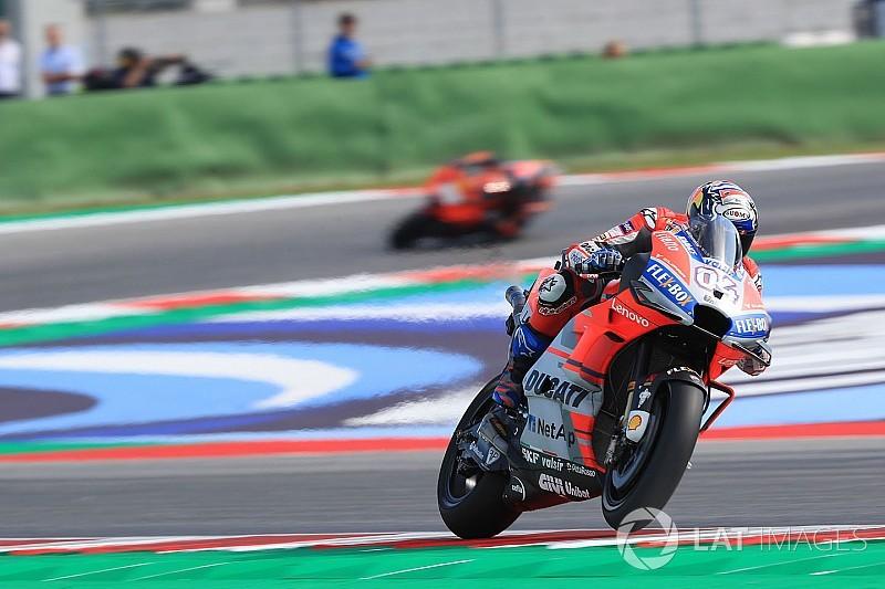Misano, Libere 2: Dovizioso propizia la doppietta Ducati, risalgono Marquez e Rossi