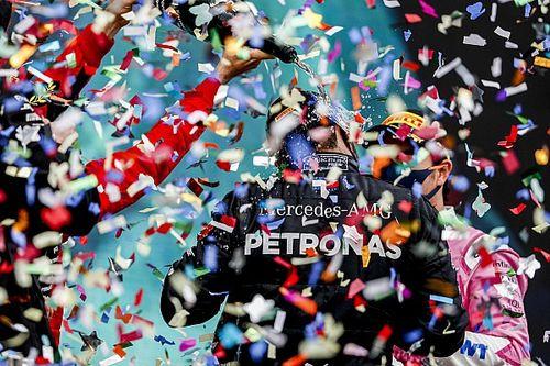 Türkiye GP podyumunda şampanya yerine gazoz kullanılmış