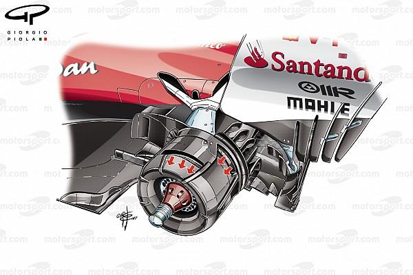 Formula 1 Ferrari: il cestello posteriore sfogava l'aria calda verso l'esterno