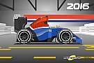 Formule 1 Cartoon van Cirebox - Vergelijking Manor 2016 en 2017