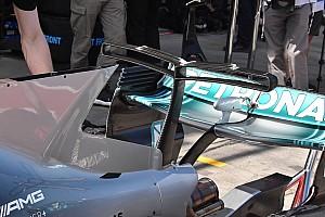 Mercedes: è tornato lo sfogo d'aria sulla pinna della W08!