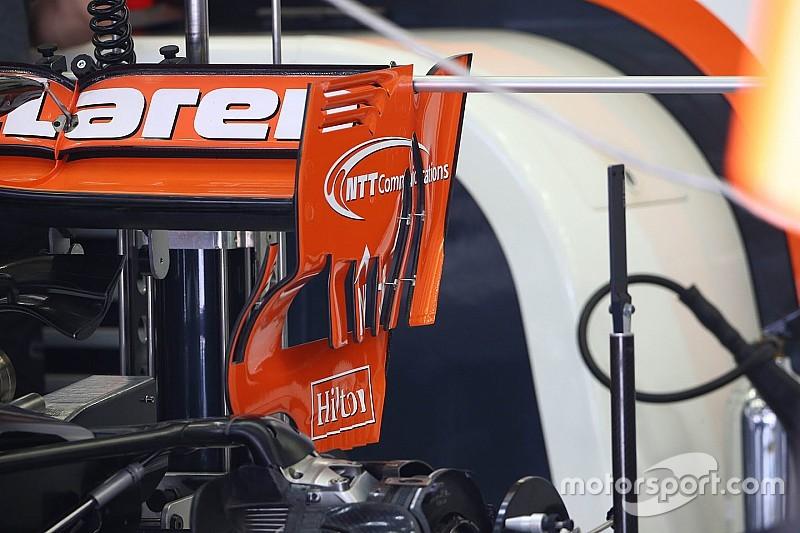 Új hátsó szárnyvéglap a McLarenen Bahreinben