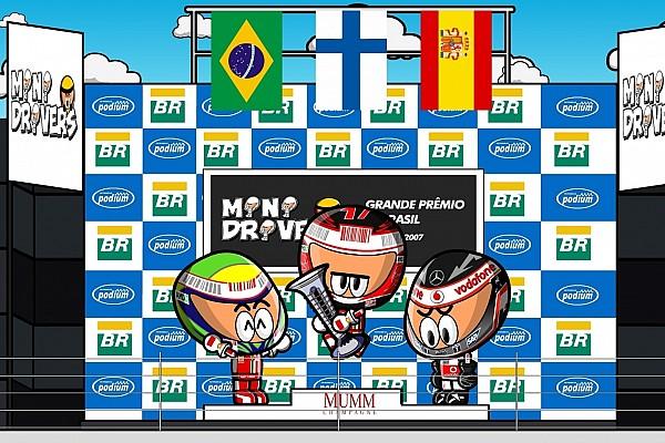 Fórmula 1 Vídeo: Raikkonen, campeón en Brasil ante Hamilton-Alonso (por MiniDrivers)