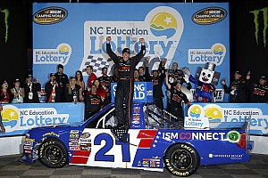 NASCAR Truck Race report Johnny Sauter pulls away for first Truck win at Charlotte