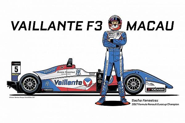 Sacha Fenestraz correrà a Macao con la livrea del team Vaillante