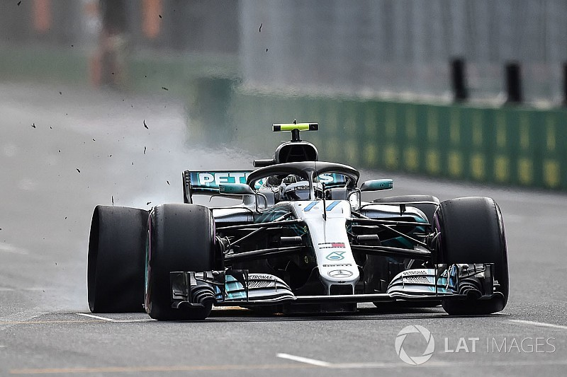 Mercedes viu detrito apenas 0s5 antes de Bottas atingi-lo