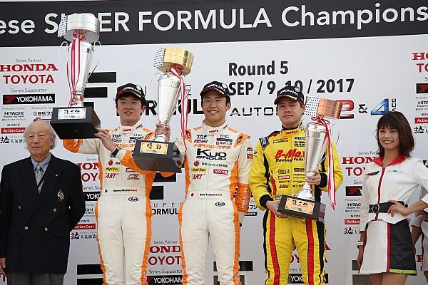 全日本F3 速報ニュース 第18戦オートポリス:坪井翔が完璧なレース展開で破竹の6連勝マーク