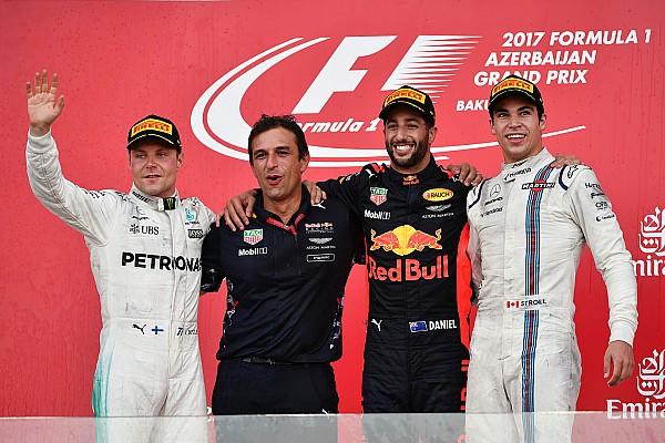 Формула 1 Репортаж з гонки Гран Прі Азербайджану: Ріккардо виграв шалену гонку