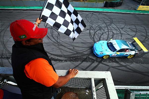 Porsche Relato da corrida Rodrigo Baptista e Pedro Queirolo vencem em Interlagos