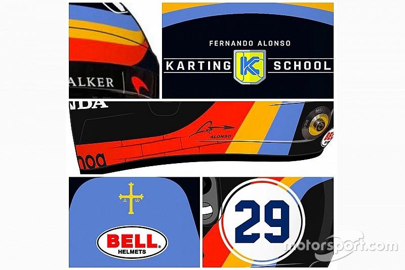 Алонсо показал фрагменты своего шлема для Indy 500