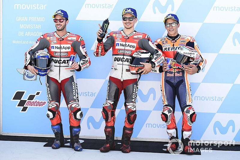 Starting grid MotoGP Aragon 2018