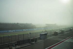 MotoGP Breaking news Aragon berkabut, jadwal Moto2-Moto3 berubah